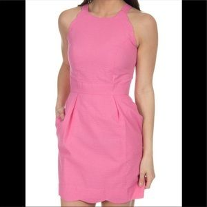 Lauren James Pink Seersucker Landry Dress NWOT